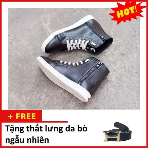 Giày nam - giày thể thao cao cổ da sần màu đen cổ có khóa và có dây đế khâu chắc chắn -đen- tl+t518-lc - 12009917 , 19613907 , 15_19613907 , 530000 , Giay-nam-giay-the-thao-cao-co-da-san-mau-den-co-co-khoa-va-co-day-de-khau-chac-chan-den-tlt518-lc-15_19613907 , sendo.vn , Giày nam - giày thể thao cao cổ da sần màu đen cổ có khóa và có dây đế khâu chắc c