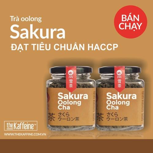 Bộ trà olong sakura 2x 100g - the kaffeine