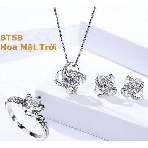 Bộ trang sức bạc cao cấp hoa mặt trời tặng kèm nhẫn pha lê tình yêu nạm đá zircon sang chảnh ttb- btsb77 - 12001356 , 19600841 , 15_19600841 , 500000 , Bo-trang-suc-bac-cao-cap-hoa-mat-troi-tang-kem-nhan-pha-le-tinh-yeu-nam-da-zircon-sang-chanh-ttb-btsb77-15_19600841 , sendo.vn , Bộ trang sức bạc cao cấp hoa mặt trời tặng kèm nhẫn pha lê tình yêu nạm đá z