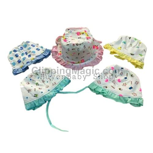 Bộ 2 nón, mũ bèo cột dây mintuu cho bé sơ sinh từ 0-6 tháng - 11995551 , 19591665 , 15_19591665 , 62000 , Bo-2-non-mu-beo-cot-day-mintuu-cho-be-so-sinh-tu-0-6-thang-15_19591665 , sendo.vn , Bộ 2 nón, mũ bèo cột dây mintuu cho bé sơ sinh từ 0-6 tháng