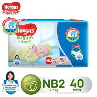 Miếng lót sơ sinh Huggies Newborn 2 - Gói 40 miếng - 8888336016603 thumbnail