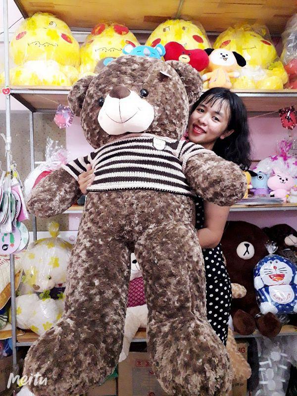 Gấu Bông Teddy SOCOLA Cao Cấp 1m6 3