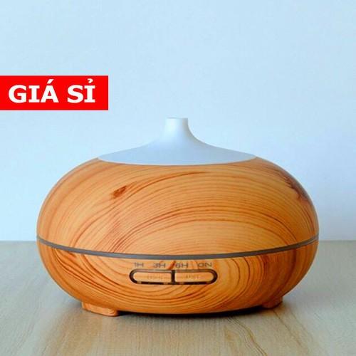 Máy khuếch tán tinh dầu vân gỗ hình bí ngô 550ml