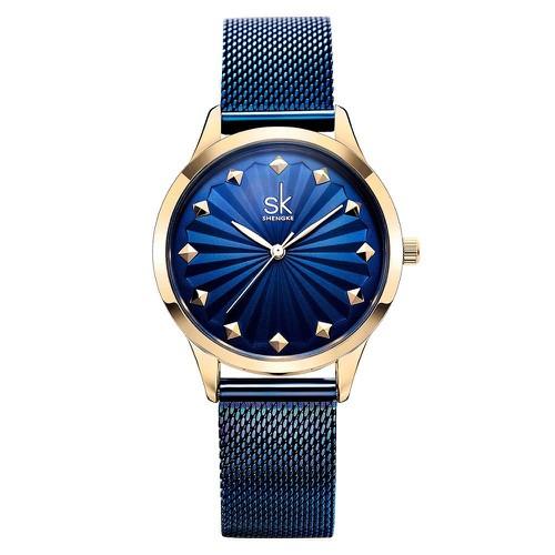 Đồng hồ nữ thời trang SHENGKE Dây Titanium Siêu Nhẹ