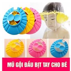 Mũ gội đầu bằng xốp mềm ngăn nước vào mắt và tai cho bé từ 6 tháng tuổi trở lên
