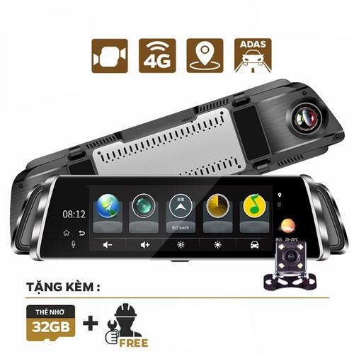 Camera hành trình ô tô 4g -  10 inch full chức năng