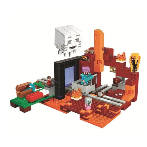 Đồ chơi lắp ghép minecraft the nether portal- no.10812