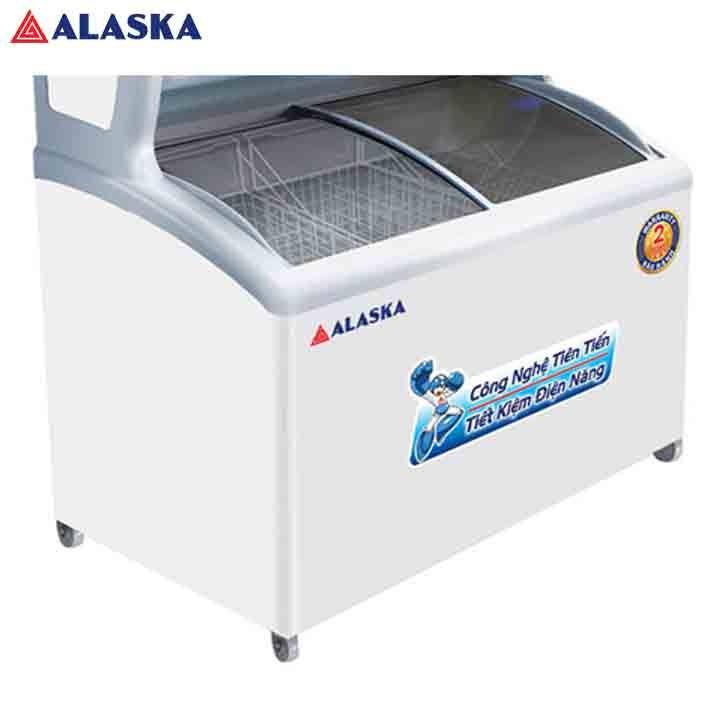 TỦ ĐÔNG MÁT TRƯNG BÀY SIÊU THỊ ALASKA 500 LÍT SFC-500 TRẮNG