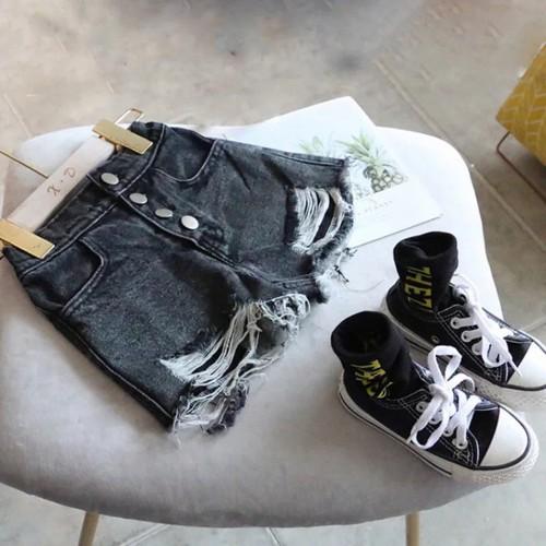 Hàng đẹp quần jean cộc rách gấu