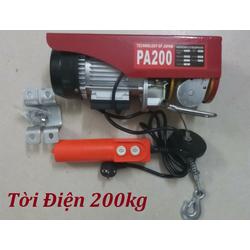Tời điện giá rẻ 200kg