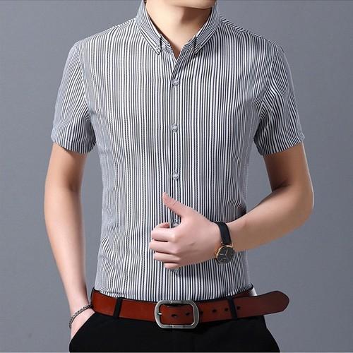 Áo sơ mi nam ngắn tay thời trang korea design cao cấp - hàng xuất khẩu