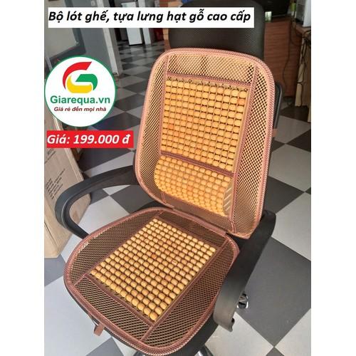 Bộ lót ghế - tựa lưng hạt gỗ cao cấp cho ô tô, ghế công sở