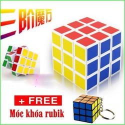 Rubik đẹp xoay trơn không rít độ bền cao Rubik 3x3 Tặng kèm móc khóa - KHO SỈ