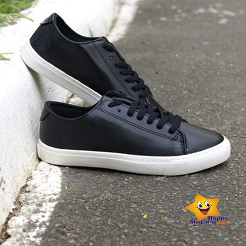 Giày bata alan walker sneaker da pu đen nam – nữ