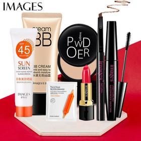 Bộ trang điểm IMAGES 7 món Kem BB che khuyết điểm + Kem chống nắng + Phẩn phủ + Chì kẻ mày + Mascara + Son + Mặt nạ dưỡng ẩm KR-BTD72 - KR-BTD72