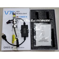 Chính hãng CREE BH 24 tháng - 1 Bóng đèn Led XHP70 V70 Chân H4 , M5 , HS5