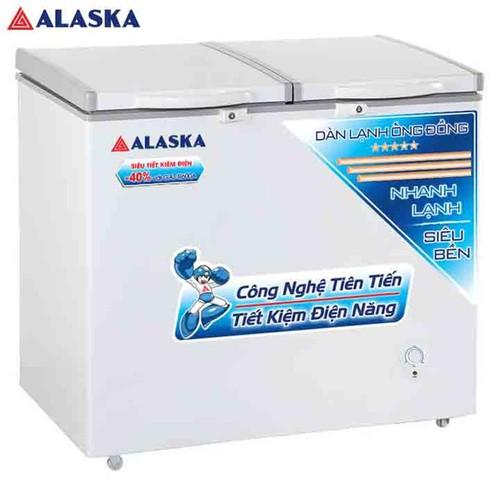 Tủ đông mát alaska 250 lít bcd-3068c trắng