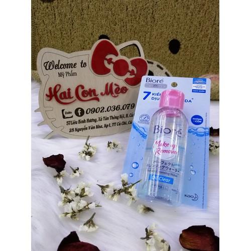 Nước tẩy trang biore makeup remover oil clear 90ml