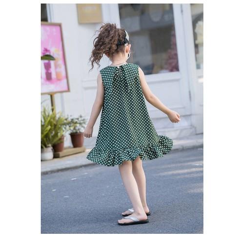 Đầm chấm bi bé gái