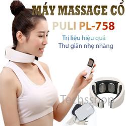 Máy mát xa vai gáy cổ Puli Pl-758 - máy massage vai gáy cổ có remote điều khiển - máy massage xung điện trị liệu 2 miếng dán