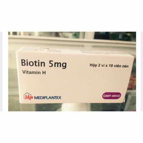 Biotin 5mg viên uống mọc tóc