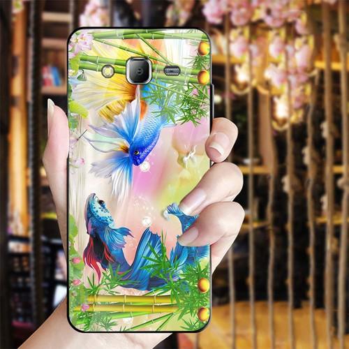 Ốp điện thoại kính cường lực cho máy Samsung Galaxy J2 Prime - bộ sưu tập cá MS BSTCA023