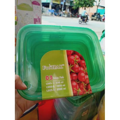Giá sốc bộ 3 hộp đựng thực phẩm cao cấp foodpak