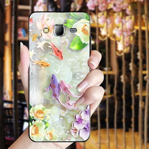 Ốp điện thoại kính cường lực cho máy Samsung Galaxy J2 Prime - bộ sưu tập cá MS BSTCA026