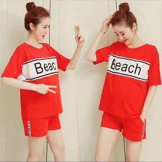 Bộ đồ bầu ngắn kiểu dáng thể thao màu đỏ, vàng, đen sang chảnh hàng cao cấp Quảng Châu - BN120 thumbnail