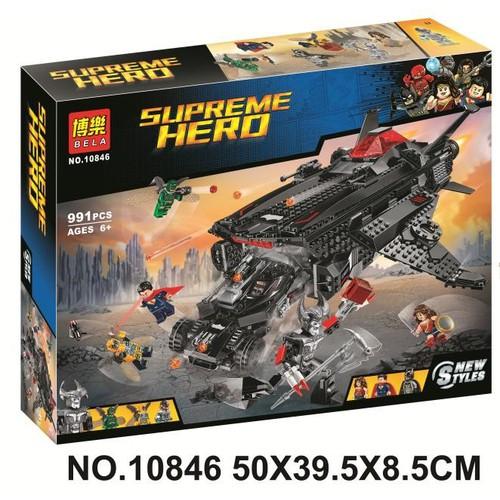 Đồ chơi hàng có sẫn mẫu lắp ráp siêu phi thuyền super hero bela 10846