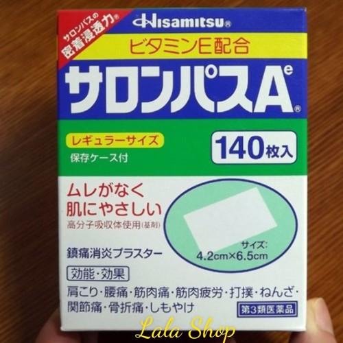 Cao dán giảm đau xương khớp salonpas hisamitsu nhật bản140 miếng