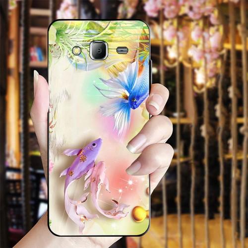 Ốp điện thoại kính cường lực cho máy Samsung Galaxy J2 Prime - bộ sưu tập cá MS BSTCA030