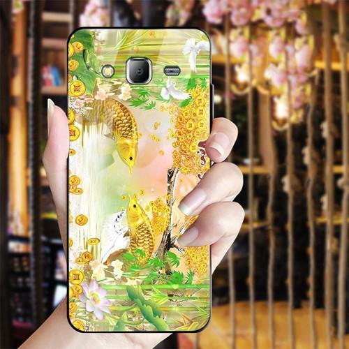 Ốp điện thoại kính cường lực cho máy Samsung Galaxy J2 Prime - bộ sưu tập cá MS BSTCA028