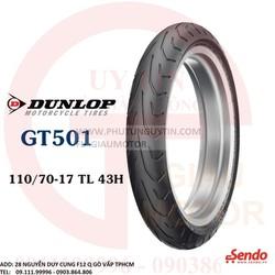 Lốp Dunlop 110.70-17 GT501 TL 54H  Vỏ xe máy Dunlop size 110.70-17 GT501 TL 54H