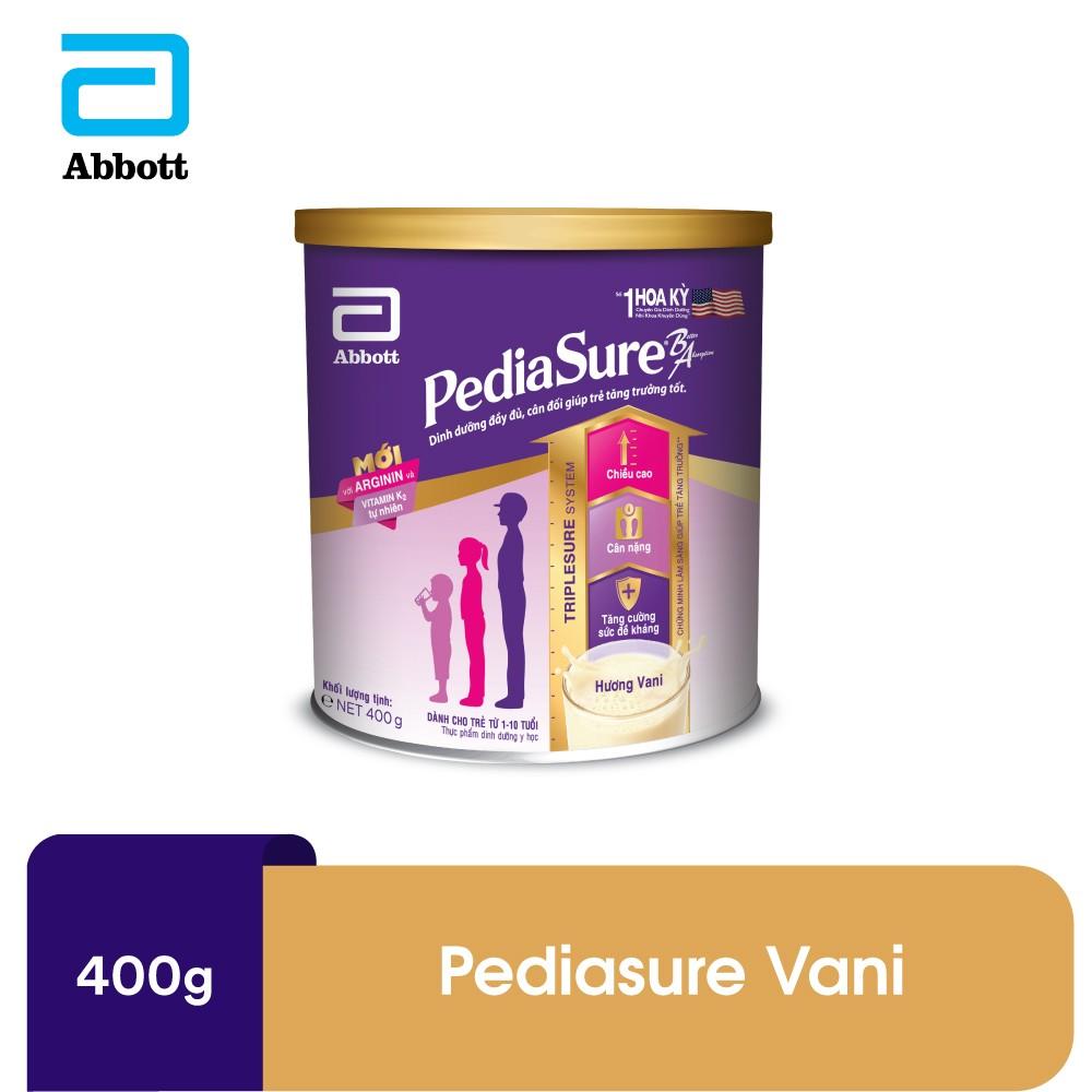 Sữa bột Pediasure BA hương vani 400g - ABB1PED016364