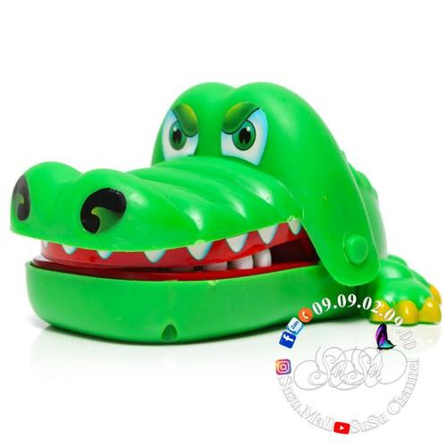 Đồ chơi cá sấu khám răng phù hợp chơi nhóm hoặc gia đình