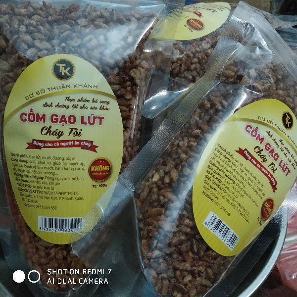 Cốm gạo lứt - gạo lứt cháy tỏi - nhãn hiệu TK 100g 16733647