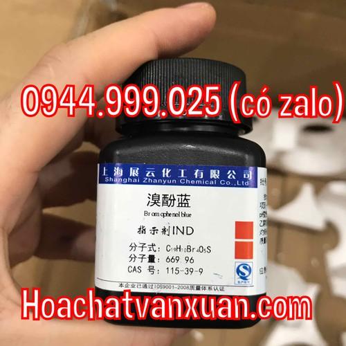 Xanh Bromophenol Blue chai 10g CAS 115-39-9 C19H9Br4NaO5S thuốc thử hữu cơ