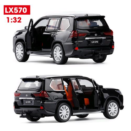 Mô hình xe ô tô lexus lx570 tỉ lệ 1 32 màu đen bằng sắt xe đồ chơi trẻ em