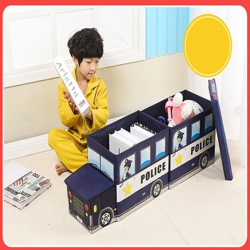 Thùng đựng đồ chơi hình ôtô kiêm ghế cho bé