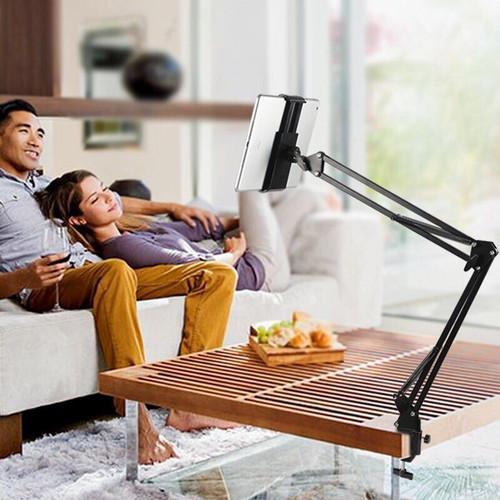 Giá đỡ iPad kẹp đầu giường xoay 360 độ