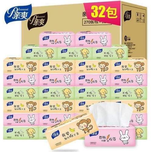 Thùng giấy ăn khỉ và thỏ siêu dai 32 gói
