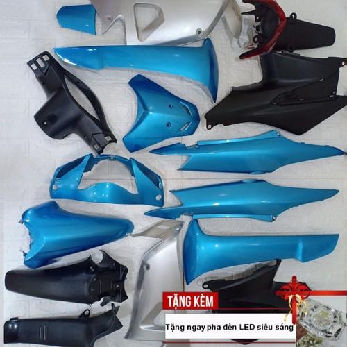 Dàn áo xe Wave RS - Wave alpha đời 2006 trở lên, nhựa nguyên sinh ABS màu xanh ngọc - Tặng pha đèn led siêu sáng - 11354731 , 20128652 , 15_20128652 , 1800000 , Dan-ao-xe-Wave-RS-Wave-alpha-doi-2006-tro-len-nhua-nguyen-sinh-ABS-mau-xanh-ngoc-Tang-pha-den-led-sieu-sang-15_20128652 , sendo.vn , Dàn áo xe Wave RS - Wave alpha đời 2006 trở lên, nhựa nguyên sinh ABS m
