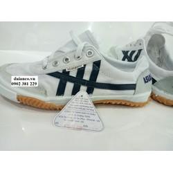 SIÊU KHUYẾN MÃI - Giày bata vải Asia chính hãng loại cột dây trắng sọc xanh