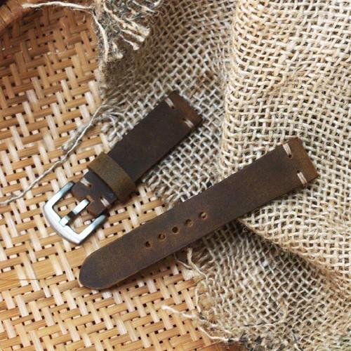 Dây da đồng hồ nam nguyên miếng da bò thật, tặng kèm khóa - 12388770 , 20167470 , 15_20167470 , 390000 , Day-da-dong-ho-nam-nguyen-mieng-da-bo-that-tang-kem-khoa-15_20167470 , sendo.vn , Dây da đồng hồ nam nguyên miếng da bò thật, tặng kèm khóa