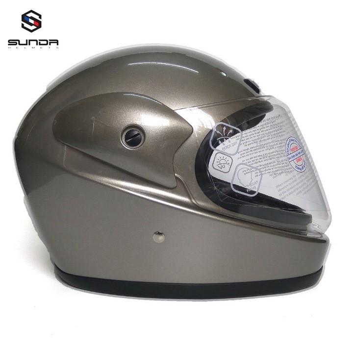 Mũ bảo hiểm SUNDA 555 - Xám bóng - SUNDA 555 - Xám bóng