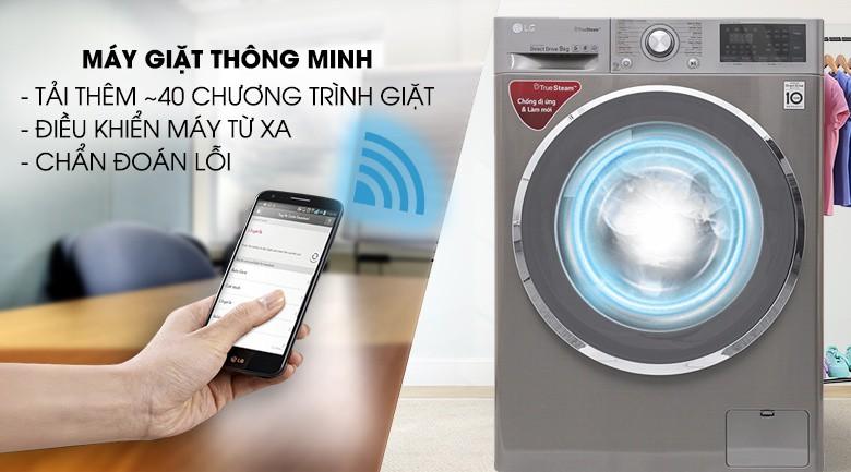 Máy giặt thông minh - Máy giặt LG inverter 9 kg FC1409S2E