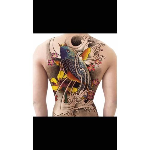 hình xăm dán cá chép hoa sen  henna tatoo - 10597610 , 20143089 , 15_20143089 , 140000 , hinh-xam-dan-ca-chep-hoa-sen-henna-tatoo-15_20143089 , sendo.vn , hình xăm dán cá chép hoa sen  henna tatoo
