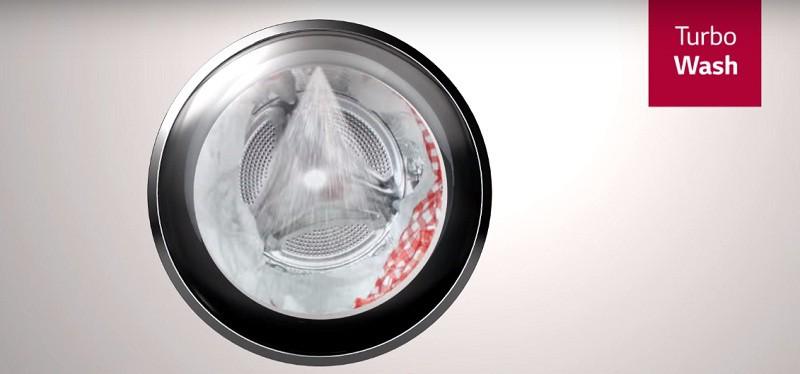 Giặt sạch nhanh chóng với công nghệ TurboWash