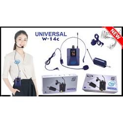 Micro không dây Đeo tai-Cài áo Universal W-14C  UHF tần số cao